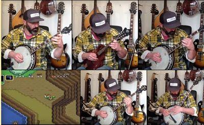 ¡Overworld de A Link to the Past tocado con el banjo!