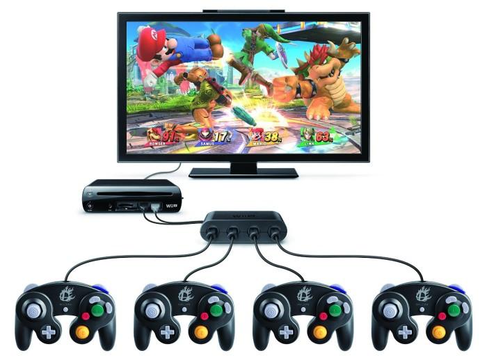 Gamecube Wii U Adapter Gamepad Super Smash Bros.
