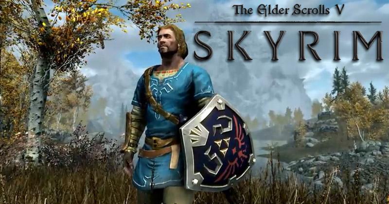 Como conseguir la túnica, espada y escudo de Link en Skyrim