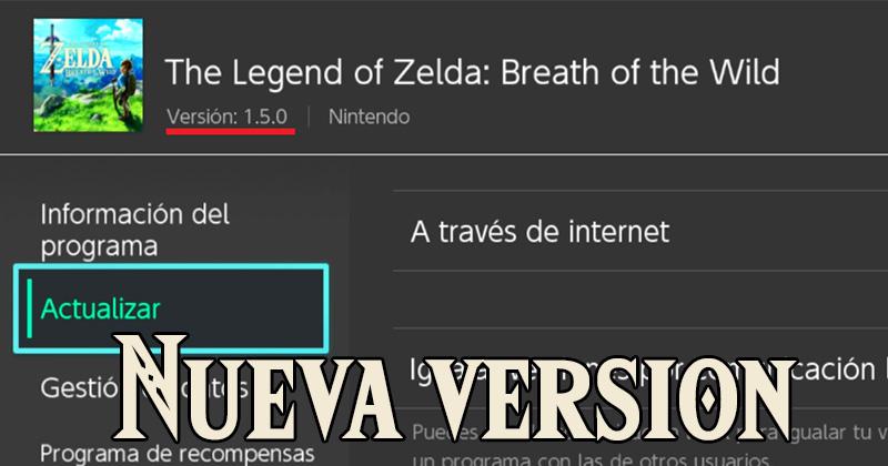 ¡La versión 1.5.0 ya está disponible para Breath of the Wild!