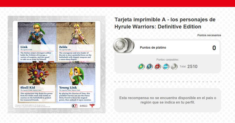 My Nintendo: tarjetas imprimibles de los héroes de Hyrule Warriors ...
