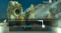 Link lobo usando una piedra aullido TP.jpg