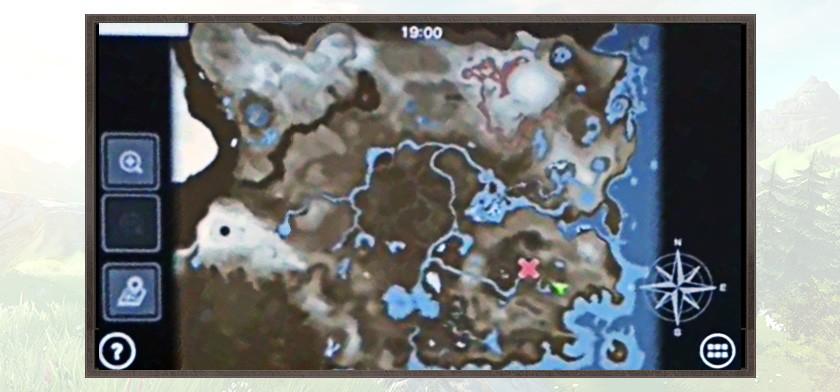 zelda u mapa inmenso universo zelda