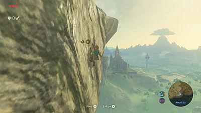 Link escalando