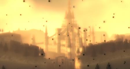 El castillo de Hyrule bajo la influencia del crepúsculo.