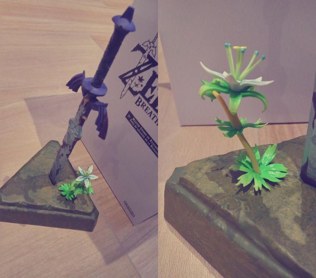 El detalle de la figura es magnífica, una figura envejecida que muestra la vida con esa pequeña plantita